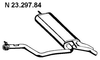 2329784 EBERSPACHER Глушитель выхлопных газов конечный