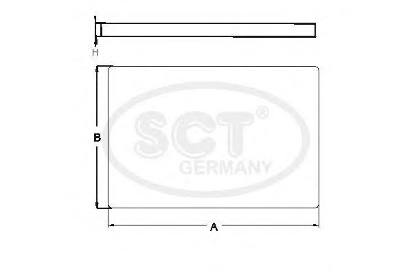SA1184 SCT Фильтр, воздух во внутренном пространстве