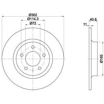 92148200 TEXTAR Диск тормозной TEXTAR