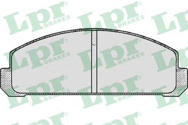05P192 LPR Комплект тормозных колодок, дисковый тормоз