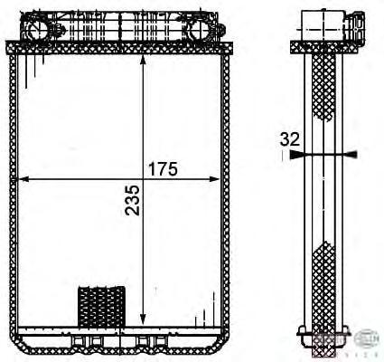 8FH351311181 BEHR-HELLA Теплообменник, отопление салона