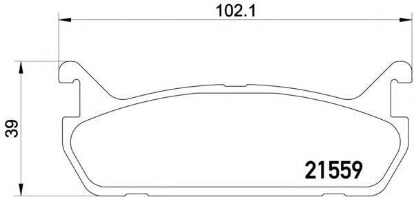 2155901 TEXTAR Комплект тормозных колодок, дисковый тормоз