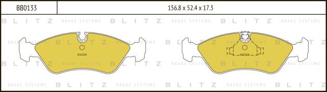 BB0133 BLITZ Колодки тормозные дисковые
