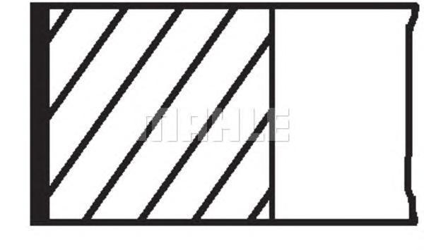 01208N0 MAHLE/KNECHT Комплект поршневых колец