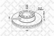 8500813SX STELLOX Тормозной диск