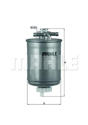 KL103 MAHLE Топливный фильтр
