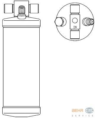 8FT351192551 BEHR-HELLA Осушитель, кондиционер