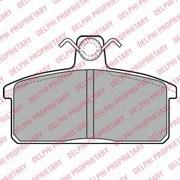 LP1201 DELPHI Комплект тормозных колодок, дисковый тормоз