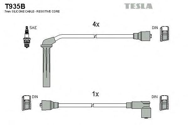 T935B TESLA Комплект проводов зажигания
