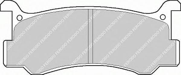 FDB482 FERODO Комплект тормозных колодок, дисковый тормоз
