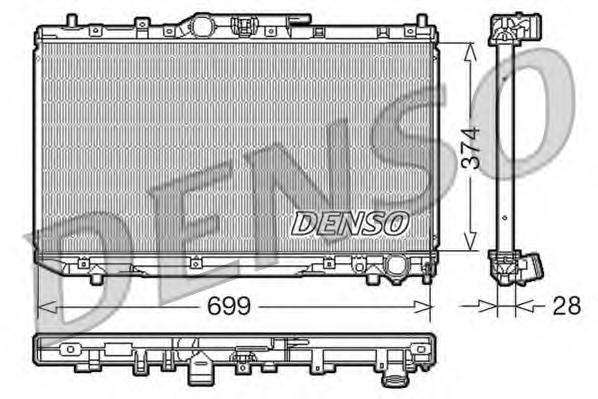 DRM50014 DENSO Радиатор, охлаждение двигателя
