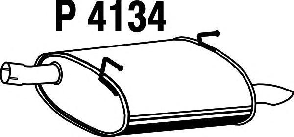 Глушитель выхлопных газов конечный FENNO P4134