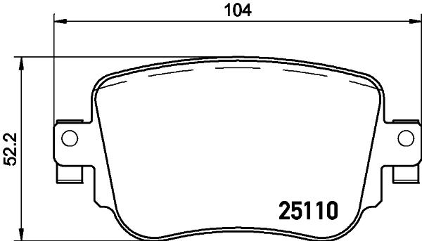 8DB355021911 BEHR-HELLA Комплект тормозных колодок, дисковый тормоз