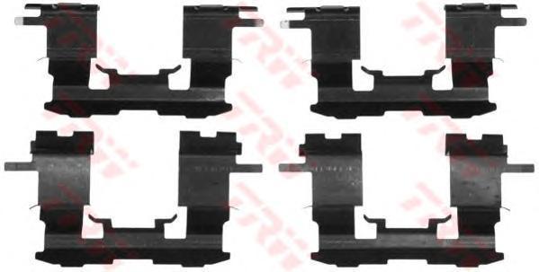 PFK501 TRW/LUCAS Комплектующие, колодки дискового тормоза