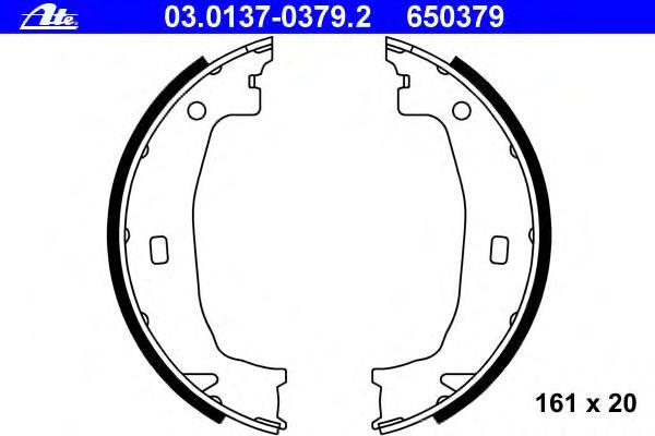 03013703792 ATE Барабанные тормозные колодки