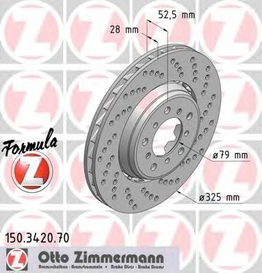 150342070 ZIMMERMANN Тормозной диск