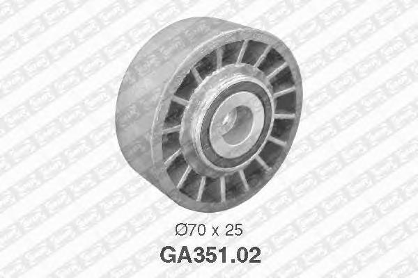 Натяжной ролик, поликлиновой  ремень NTN-SNR GA35102