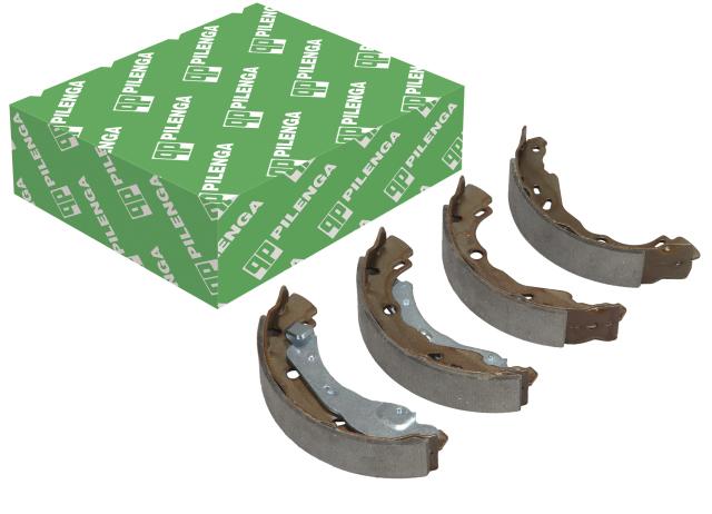 Колодки тормозные барабанные задние (203мм), со скобами ручника, Bosch PILENGA BSP8455N