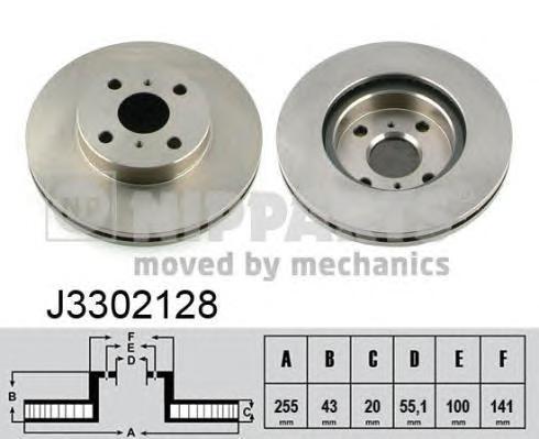 Тормозной диск NIPPARTS J3302128