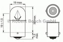 1987302510 BOSCH Лампа R5W 24V