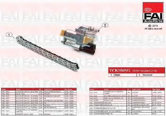 Комплект цели привода распредвала FAI AUTOPARTS TCK106NG