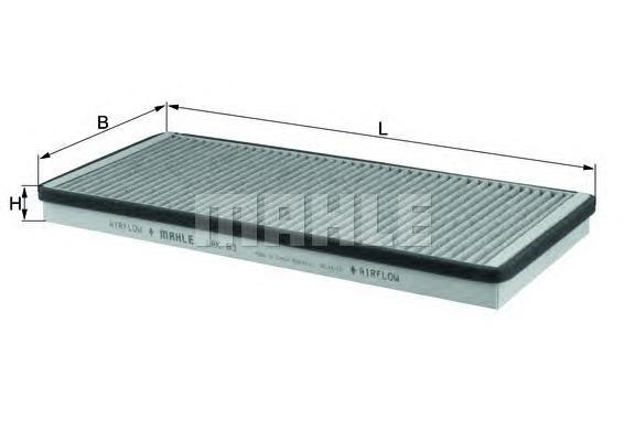 LAK83 MAHLE/KNECHT Фильтр, воздух во внутренном пространстве