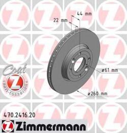 Тормозной диск ZIMMERMANN 470241620