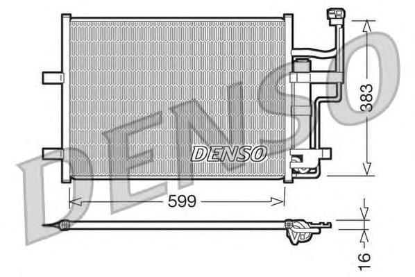 Конденсатор, кондиционер DENSO DCN44003