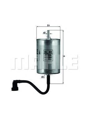 KL80 MAHLE/KNECHT Топливный фильтр