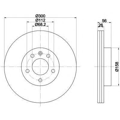 92109803 TEXTAR Тормозной диск