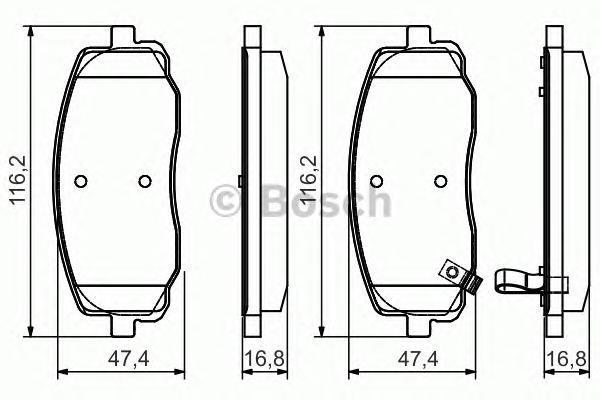 0986495084 BOSCH Комплект тормозных колодок