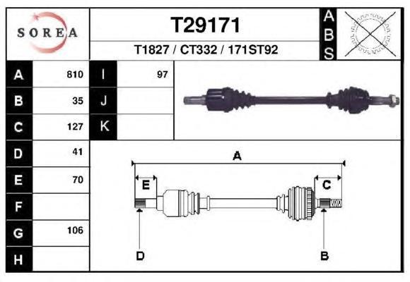 Приводной вал EAI GROUP T29171