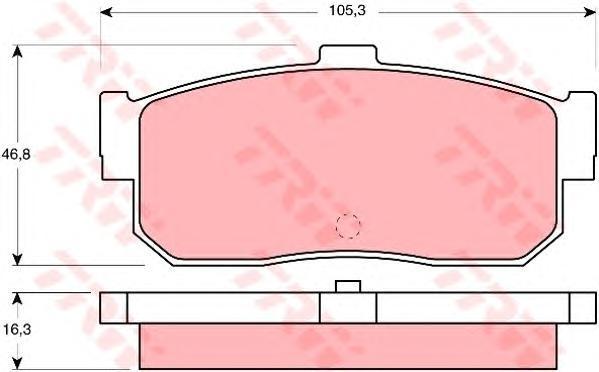 GDB1172 TRW Комплект тормозных колодок, дисковый тормоз