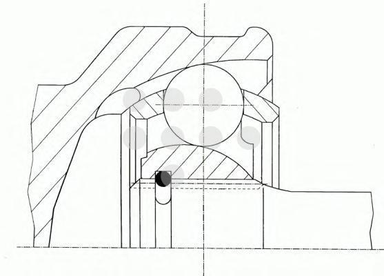303746 GKN (LOEBRO) Шарнирный комплект, приводной вал