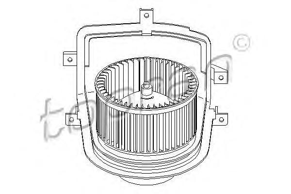 108632 TOPRAN Электродвигатель, вентиляция салона