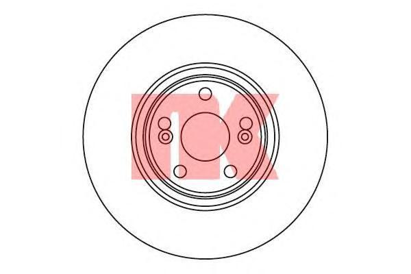 203948 NK Тормозной диск