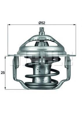 Термостат, охлаждающая жидкость MAHLE/KNECHT TX6488