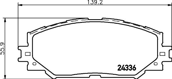 8DB355028421 BEHR-HELLA Комплект тормозных колодок, дисковый тормоз