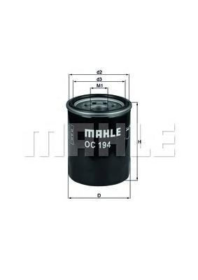 OC194 MAHLE Фильтр масляный