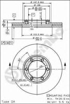 Тормозной диск BREMBO 09557710