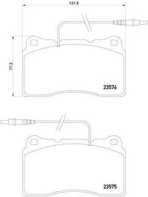 2357501 TEXTAR Комплект тормозных колодок, дисковый тормоз
