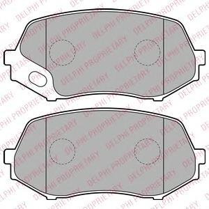 LP2208 DELPHI Комплект тормозных колодок, дисковый тормоз