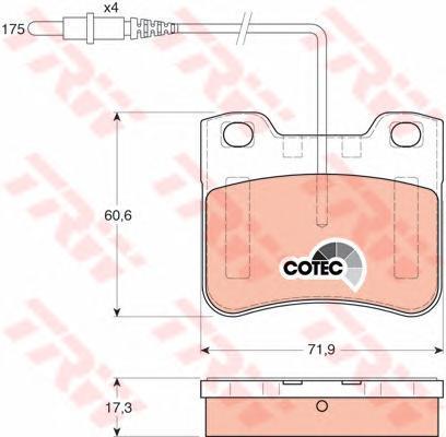 GDB1031 TRW/LUCAS Комплект тормозных колодок, дисковый тормоз