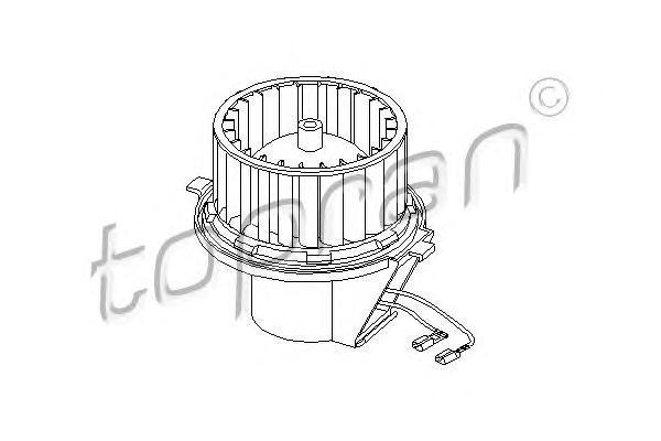 107228 HANS PRIES Электродвигатель, вентиляция салона