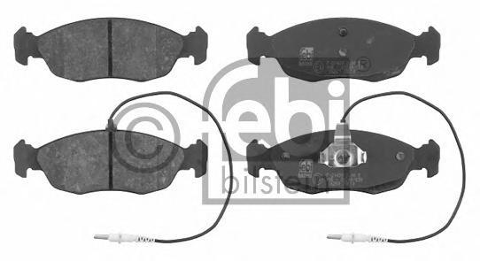 16259 FEBI Комплект тормозных колодок, дисковый тормоз