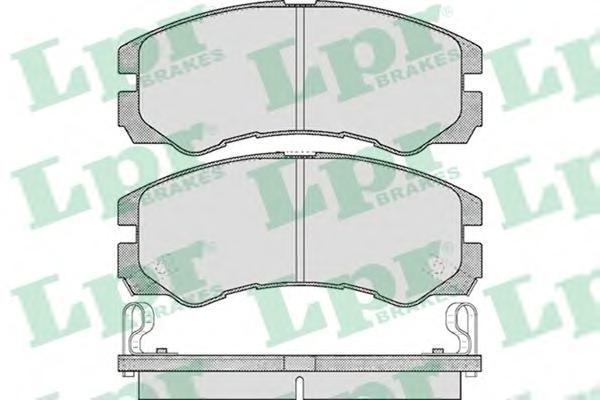 05P565 LPR/AP Комплект тормозных колодок, дисковый тормоз