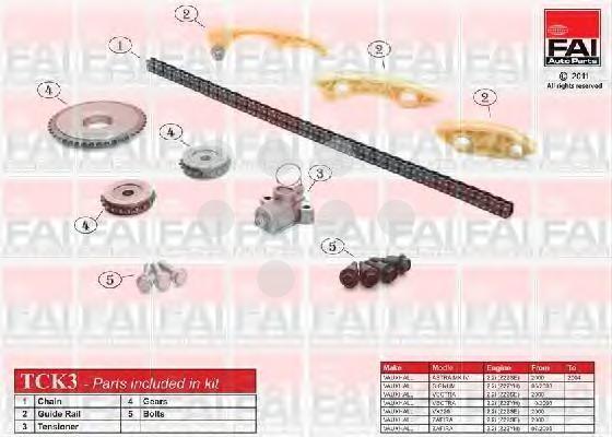 Комплект цели привода распредвала FAI AUTOPARTS TCK3