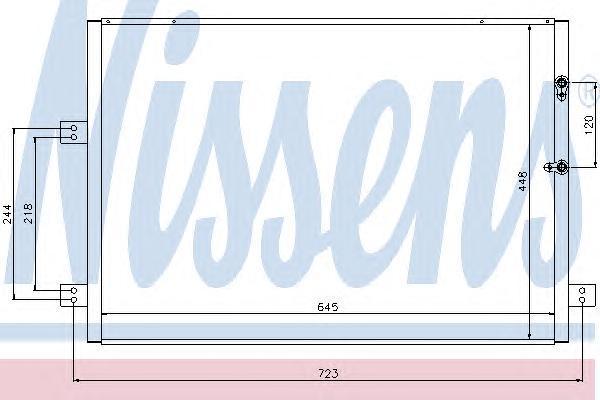 94787 NISSENS Конденсатор, кондиционер