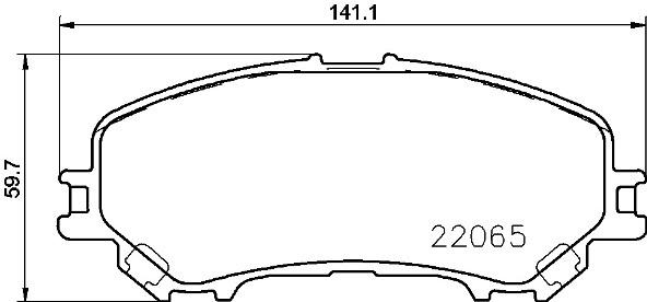 P56100 BREMBO Тормозные колодки