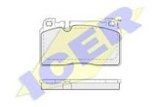 182112 ICER Комплект тормозных колодок, дисковый тормоз